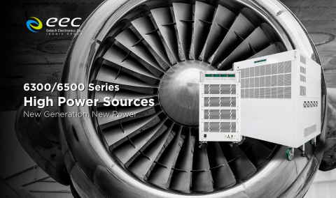 EEC 6300/6500 series AC power source capable of outputting up to 300kVA