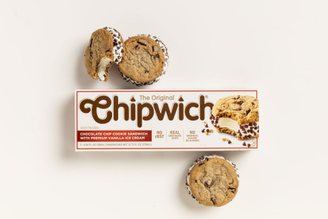 After a seven year absence, the Original Chipwich returns, just in time for summer. Today's Chipwich is a perfectly balanced, three-in-one indulgence: premium vanilla ice cream sandwiched between two sweet, chewy chocolate chunk cookies and then rolled in crunchy, real chocolate chips—the signature detail that makes a Chipwich a Chipwich.(Photo: Business Wire)