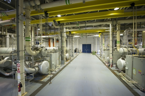 Cooling plant of the Channel Tunnel in Sangatte (Photo: Business Wire)