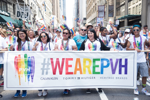 PVH at the NYC Pride March 2017 (Photo: Business Wire)