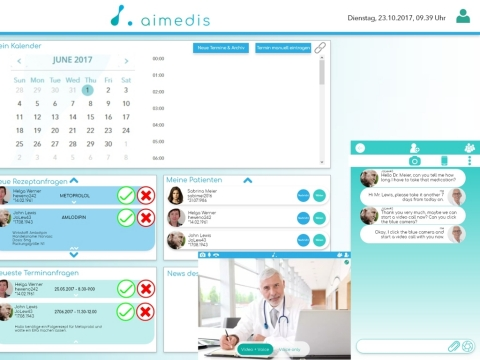 Aimedis healthcare platform for patients (Graphic: Business Wire)
