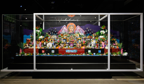 Altar to el Pueblo de Nuestra Señora la Reina de los Ángeles (the Town of Our Lady the Queen of Angels), 2018. Created by Ofelia Esparza and Rosanna Esparza Ahrens. Courtesy of the Natural History Museum of Los Angeles County.