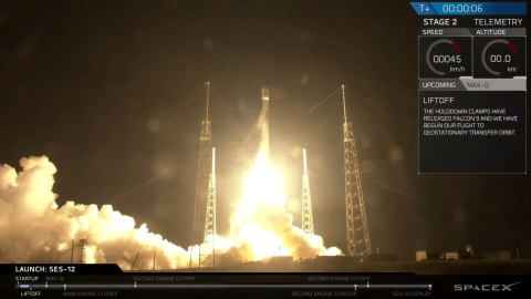 SES-12 Roars into Space On-Board SpaceX Falcon 9 Rocket (Photo: Business Wire)