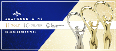 Global youth enhancement company Jeunesse is honored with 21 Communicator Awards in 2018 competition. (Photo: Business Wire)