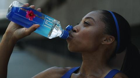Allyson Felix stars in FIJI Water Sports Cap campaign. (Photo: Business Wire)