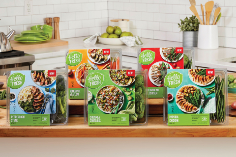 HelloFresh's Retail Product Line (Photo: Business Wire)