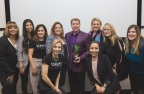 President, Stuart MacMillan, with MONAT Global CSR team Receiving Communitas Award from the AMCP Team (Photo: Business Wire)