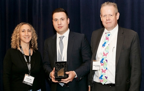 Profit & Loss award ceremony, smartTrade receives the Best Liquidity Aggregation Platform Award. (Photo: Business Wire)
