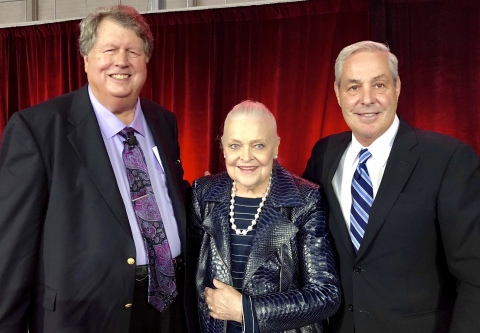 Left to right: Ron Burgert, CFO, Ebby Halliday Companies; Mary Frances Burleson, President and CEO, Ebby Halliday Companies; Ron Peltier, Chairman and CEO, HomeServices of America. (Photo: Business Wire)