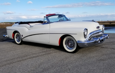 1953 was the 50th anniversary of Buick, and the company celebrated by producing only 1,690 Skylark Convertibles, including this rare vehicle up for bid in Barrett-Jackson's 3rd Annual Northeast Auction June 21-23 at Mohegan Sun and online on Proxibid. (Photo: Barrett-Jackson)