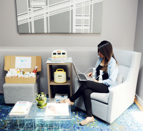 Premier lactation lounge in the workplace (Photo: Business Wire)