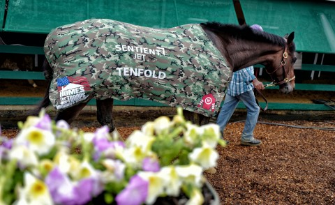 Tenfold at the 2018 Preakness Stakes Raising Awareness for Homes For Our Troops (Photo: Business Wire)