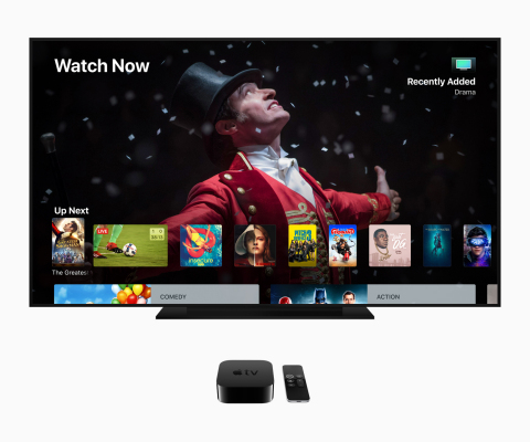 Apple's tvOS 12 takes the cinematic experience of Apple TV 4K to the next level — making it the only streaming player both Dolby Vision and Dolby Atmos certified. (Graphic: Business Wire)