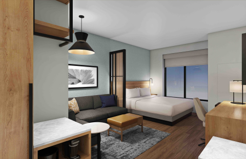 True to the brand's commitment to research and constant innovation, the new Hyatt Place guestroom will evolve in a new, thoughtful way. (Photo: Business Wire)