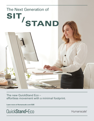Humanscale's new campaign for QuickStand Eco from Present Day showcases Real People doing Real Work (Graphic: Business Wire)