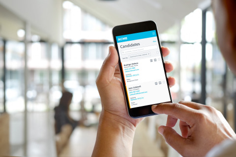 New mobile, one-stop-shop functionality within the Cornerstone Recruiting Suite enables recruiters to quickly assess candidates and move them through the hiring process faster. (Photo: Business Wire)