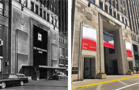 The Mart, 1957; The Mart, 2018. All photos property of NeoCon/The Mart