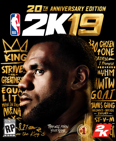 2K today announced that NBA 2K will feature three-time NBA Champion, four-time NBA MVP and avid NBA 2K gamer LeBron James on the cover of the NBA 2K19 20th Anniversary Edition. (Photo: Business Wire)