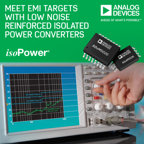 Analog Devices' Isolated Power Converters Support Class B System EMI Levels (Photo: Business Wire)
