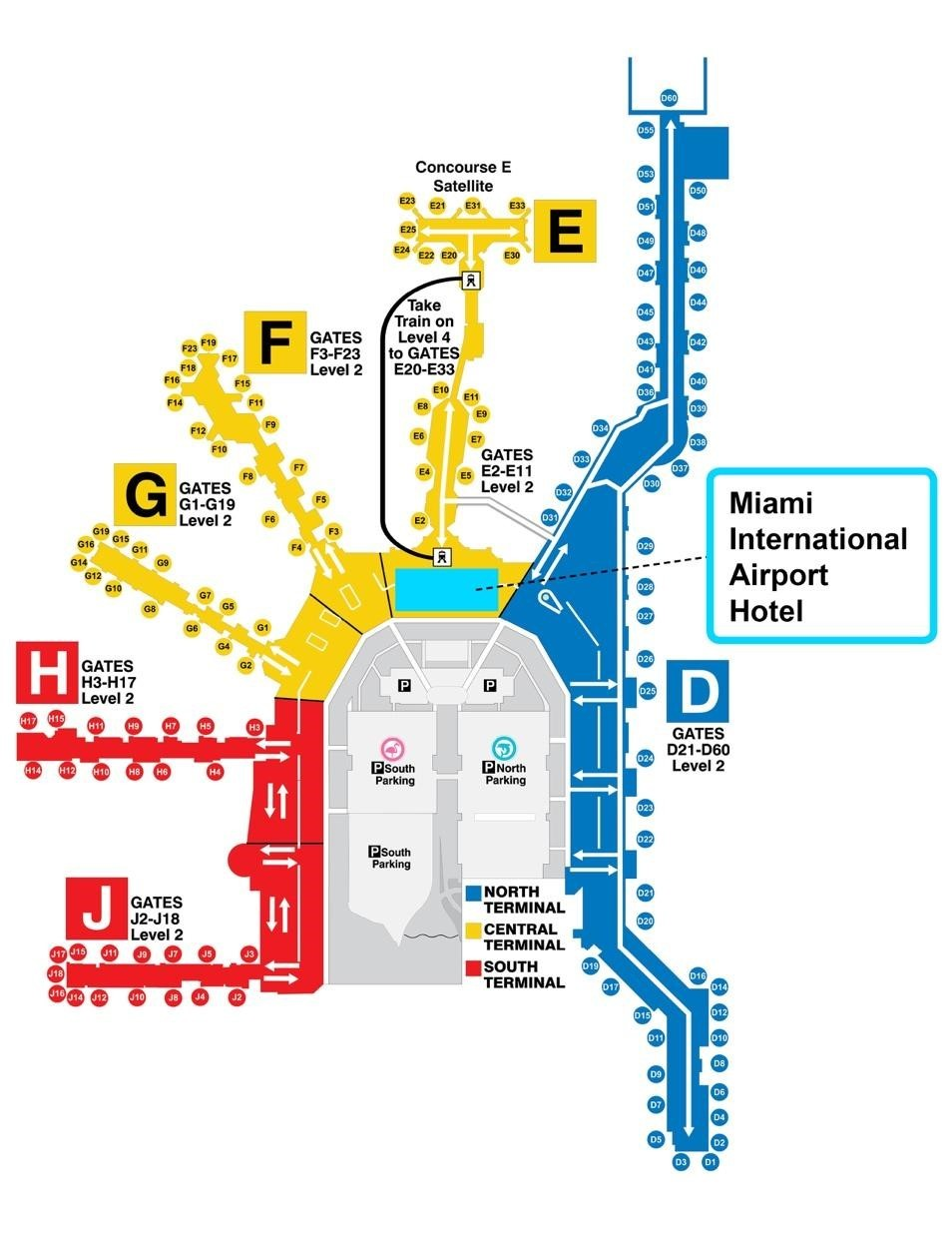 miami airport gate map Mcr Is Now Managing The Miami International Airport Hotel Business Wire miami airport gate map