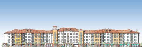 Architectural rendering of Tower Bay Lofts currently under construction in Lewisville, Texas (Graphic: Business Wire)