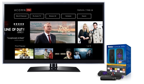 Acorn TV Launches on Roku Streaming Devices (Graphic: Business Wire)