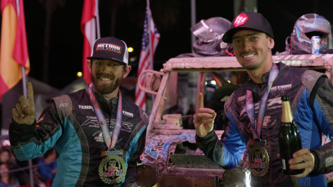 Polaris RZR Factory Racing team member Branden Sims took first place in the Pro UTV Forced Induction class at the 50th BFGoodrich Tires SCORE Baja 500. (Photo: Business Wire)