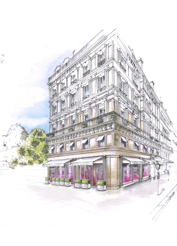 FAUCHON, the Luxury French Food Purveyor, Launches its Global Hotel Brand, FAUCHON Hospitality, With The Opening Of Its First Property in Paris On September 1 And Plans To Establish A Portfolio Of 20 Hotels Worldwide Over The Next Decade (Graphic: Business Wire)