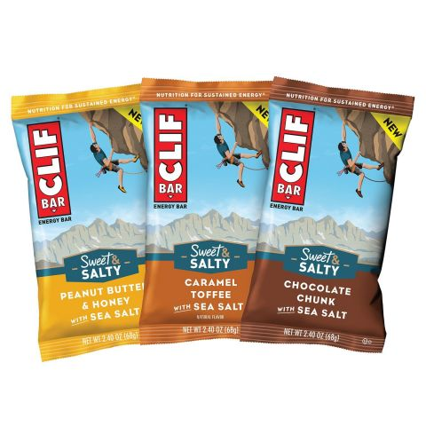 With CLIF's new Sweet & Salty collection, it's a little bit of both! The Sweet & Salty bars offer the best of both worlds, rounding out the original CLIF BAR flavors (more) fans know and love with mouth-watering additions like Chocolate Chunk with Sea Salt, Caramel Toffee with Sea Salt and Peanut Butter and Honey with Sea Salt. Inspired by the homemade cookies at the employee-run Clif Bar & Company Kali's Café in Emeryville, Calif., CLIF Sweet & Salty is the perfect way to indulge those sweet and salty cravings at the same time. (Photo: Business Wire)