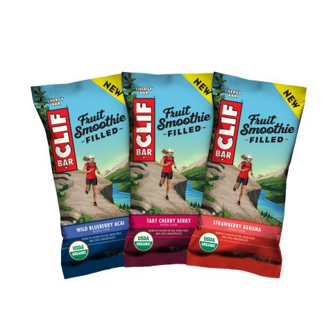 Whatever your next adventure, CLIF Fruit Smoothie Filled Energy Bars provide the long-lasting energy needed for your next adventure. Fruit Smoothie Filled is the first USDA Certified Organic energy bar inspired by classic smoothie ingredients, blending bright, fruit flavors with nut and seed butters to create a deliciously creamy filling packed inside an energy bar. (Photo: Business Wire)