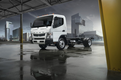 Allison Transmission's presence in the Class 4 and Class 5 truck market has expanded with Mitsubishi Fuso Truck of America unveiling its new gasoline-powered FE Series cabover work trucks. © Mitsubishi Fuso Truck of America