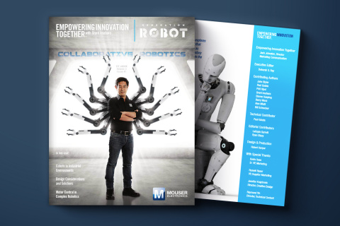 Mouser Electronics announces the release of a new e-book titled Collaborative Robotics, the most recent offering in the Generation Robot series, part of Mouser's Empowering Innovation Together program. (Photo: Business Wire)
