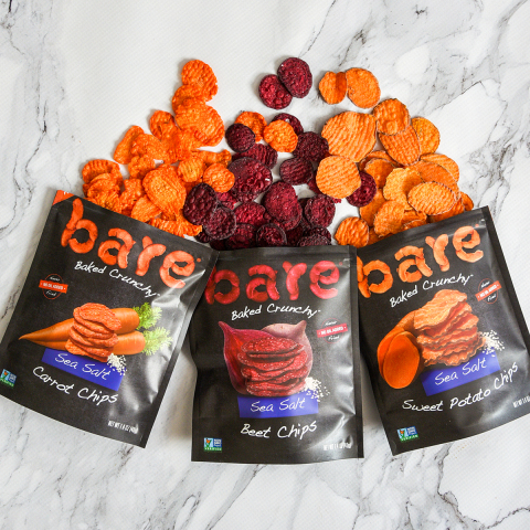 New bare Sea Salt Carrot, Beet and Sweet Potato Chips.(Photo: Business Wire)