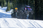 Professional off-road racer RJ Anderson shreds in the RZR XP Turbo S through the snow with professional snowboarder Torstein Horgmo in the first installment of Polaris RZR Visions: Snow Blind (Photo: Business Wire)