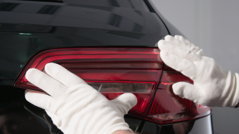 The Audi Plastics 3D Printing Center will use the unique J750 3D Printer to produce ultra-realistic, multi-colored, transparent tail light covers in a single print (Photo: Business Wire)