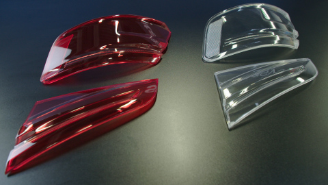 For the production of tail light covers, Audi estimates a reduction in prototyping lead times by up to 50 percent using unique Stratasys full-color, multi-material 3D printing (Photo: Business Wire)