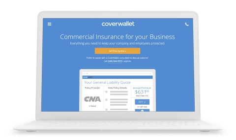 The CoverWallet platform is the easiest way for small businesses to understand, buy and manage insurance online, in minutes. (Graphic: Business Wire)
