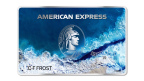 American Express prototype of the first-ever credit card made primarily with Ocean Plastic.
