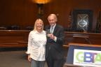Senator Ed Markey (D-MA) receives the Navigator Award from GBTA President Christle Johnson (Photo: Business Wire)