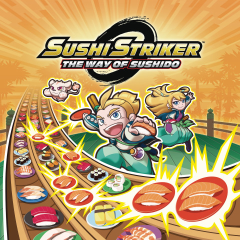 In the fast-paced action-puzzle-RPG Sushi Striker: The Way of Sushido – now available for both the Nintendo Switch system and the Nintendo 3DS family of systems – you must vanquish the evil Empire by devouring delicious sushi and hurling the empty plates at your opponents. (Graphic: Business Wire)