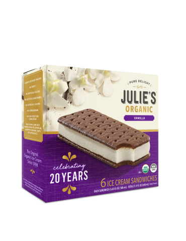 Julie's Organic celebrates its 20th anniversary with a limited-edition, commemorative box design (Photo: Business Wire)