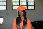 Neisha Moore graduated Thursday, June 7, 2018, as the class valedictorian of McClymonds High School in Oakland, California, after completing the engineering pathway program supported by Intel Corporation. Moore, who plans to attend the University of Southern California, is among 60 of the 62 senior graduates who plan to attend college. Since 2015, Intel has partnered with the Oakland Unified School District to develop and improve computer science and engineering courses at two schools. (Credit: Intel Corporation)