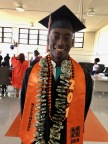 Day'Marr Johnson graduated Thursday, June 7, 2018, from McClymonds High School in Oakland, California, after completing the engineering pathway program supported by Intel Corporation. Johnson, who plans to attend Laney College, is among 60 of the 62 senior graduates who plan to attend college. Since 2015, Intel has partnered with the Oakland Unified School District to develop and improve computer science and engineering courses at two schools. (Credit: Intel Corporation)