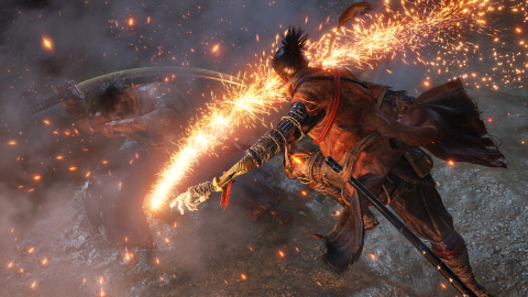 Sekiro™: Shadows Die Twice, launching early 2019 on Xbox One, PlayStation®4 and PC via Steam, is a brand-new, dark and twisted gameplay experience developed by FromSoftware. Fans of FromSoftware will find familiarity in the gritty gameplay found in the game where combat reigns supreme.  (Graphic: Business Wire)