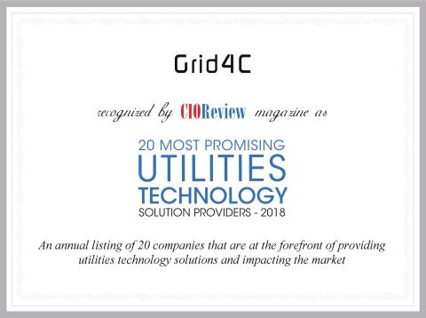 Grid4C Selected by CIO Review as 2018 Top Technology Solution Provider for Utilities (Graphic: Business Wire)