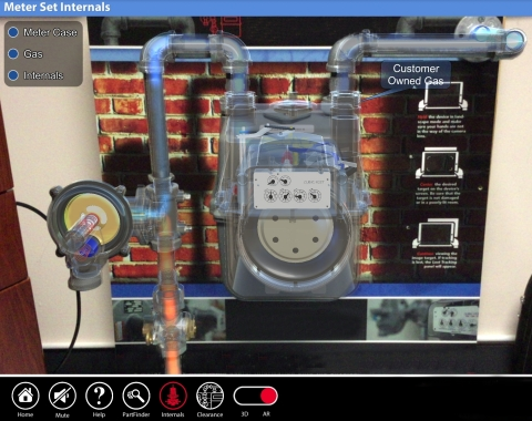 In an augmented reality application built by Index AR Solutions, gas technician apprentices at MidAmerican Energy Company can visualize and better understand the operation of a gas meter set. (Photo: Business Wire)