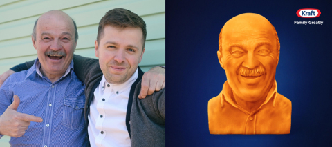 This Father's Day, get your dad the cheesiest gift of them all – a Kraft cheese sculpture of himself. What better way to commemorate dad's cheesy greatness than with his very own cheese sculpture? (Graphic: Business Wire)