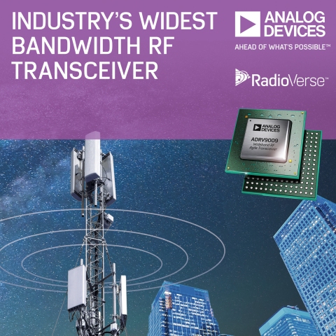 Industry's Widest Bandwidth RF Transceiver Speeds Development of 2G-5G Base Stations and Phased Arra ...