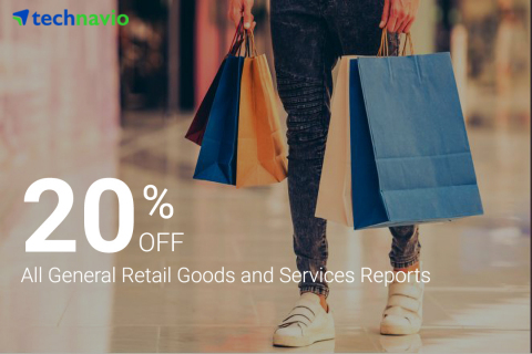 Leading market research firm Technavio is offering a 20% on their retail goods and services library, which is a part of their consumer and retail vertical. (Graphic: Business Wire)
