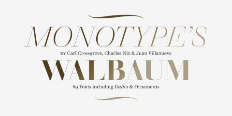 Introducing the Walbaum Typeface: the Restoration of a Warm and Stylish Serif Design That Has Nearly Limitless Applications (Graphic: Business Wire)